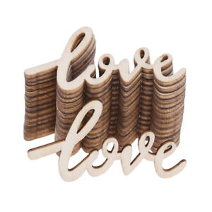 15pcs Wooden LOVE Table Confetti Scatter Vintage Rustic Wedding Party ^qi