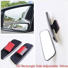 Pair HD Rectangle Side Rearview In-car Auxiliary Adjustable Blind Spot Mirror
