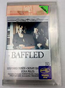 Baffled Leonard Nimoy Susan Hampshire VHS Video Cassette Tape Big Box PAL R 1977