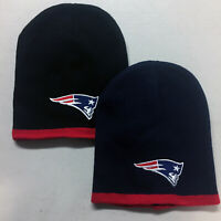 New England Patriots Short Beanie Skull Cap Hat Embroidered NE Pats
