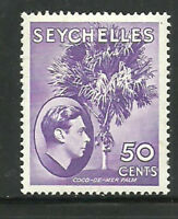 Album Treasures Seychelles  Scott # 141  50c George VI Palm Tree  Mint LH