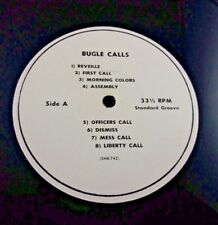 ULTRA RARE Vintage Collectible US Army Bugle Calls Military Issue 33 rpm Vinyl