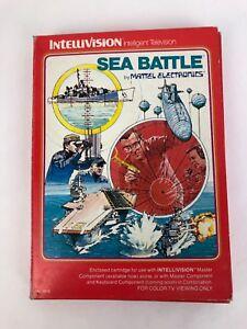 Rare Mattel Electronics INTELLIVISION SEA BATTLE BOXED - Fast Free Shipping