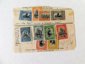 Portugal #423-4,426-29, 31-32,34 & 36, 1927, M/F/OG/LH, Toning gum side,Independ