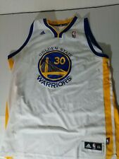 Adidas Stephen Curry Golden State Warriors Jersey ADULT Size 2XL White NBA #30.