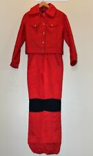 Vintage Women's 2 piece Edelweisse Ski Suit Snowboard Size 10 Red