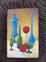 Vintage Playing Cards - Still Life Glasses / Bottles circa 1960s Star Dust Brand