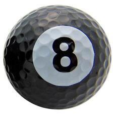 One Single 8 Eight Ball Pool Design Novelty Golf Ball Fun Gag Gift Golfer Dad