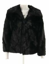 Dennis Basso Platinum Chevron Cut Faux Fur Shrug Jacket UK 16-18 LN096 PP 01