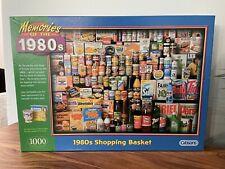 "Gibson '1980s Shopping Basket"" 1000 Piece Jigsaw Puzzle Complete Nostalgia"