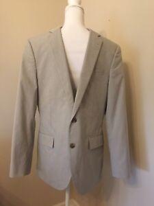 JCrew Ludlow Suit Jacket Double Vent  Fine Stripe Cotton 40R SOLDOUT $278 44013