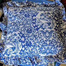 Ralph Lauren Porcelain Blue White Throw Pillow NEW