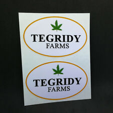 Pair of TEGRIDY FARMS DECALS, 3.5 Inch, Vinyl STICKERs, South Park