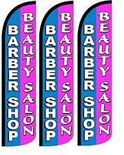 Barber/Beauty Salon Windless Standard Size  Swooper Flag Sign Banner Pk of 3