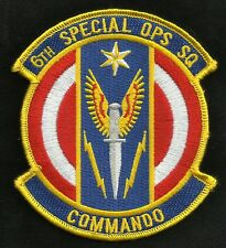 AIR FORCE USAF 6th SPECIAL OPERATIONS SQUADRON COMMANDO 6TH SOS MILITARY PATCH