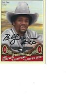 Billy Sims Oklahoma Autographed Card