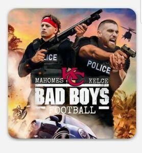 Pat Mahomes & Travis Kelce Bad Boys MAGNET - Kansas City Chiefs NFL Patrick KC