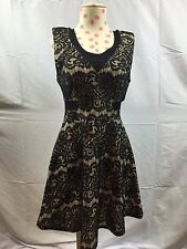 Material Girl Black Lace Dress Sz M