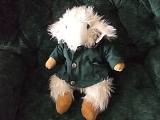 "Sheep/Lamb 15"" in green/flannel lined jacket by Richard Lang & son"