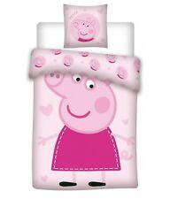Peppa Wutz Pig Rosa Kinderbettwäsche 2tlg. Set 135x200 80x80 Bettwaren Baumwolle