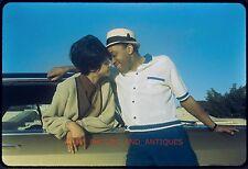 1960S DETROIT AFRICAN AMERICAN COUPLE & CAR VTG 35MM PHOTO SLIDE BLACK OLD
