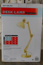 NIB Equip Your Space Gold Architect Desk Lamp w/Charging Station, Adjustable Arm