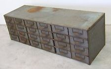 Vtg Industrial 24 Drawer Metal Cabinet Organizer Parts Chest loft steampunk LYON