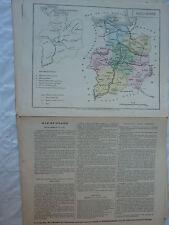 carte scolaire départementale (fin XIX ?) aquarellée / notice - ILLE et VILAINE