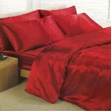 Linge de lit et ensembles rouge en satin pour chambre à coucher