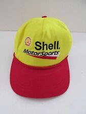 Vintage Shell Motor Sports Yellow Snap Back Baseball Hat Cap