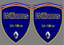 2 stickers adhésifs RENAULT CLIO WILLIAMS  (idéal pour ailes avant )
