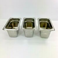 Carlisle 608194 DuraPan Steam Table Pans Set of 3 1/9 Size 4-Inch Stainless Used