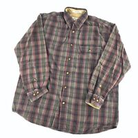 Orvis Mens Large Plaid Button Up Long Sleeve Shirt