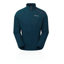 Montane Mens Ember Pull-On Jacket Top Blue Sports Outdoors Half Zip Breathable