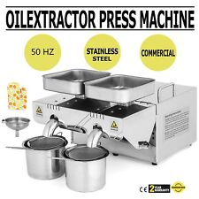 Auto Oil Press Machine Olive Extractor Expeller Homemade 50Hz Household Good