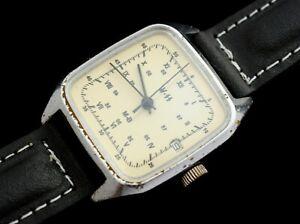 WW-2  Vintage Watch mirror Raketa German Military Mechanical USSR 2614H
