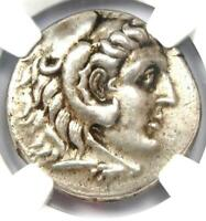 Alexander the Great III AR Tetradrachm Silver Coin 336-323 BC - Certified NGC XF