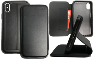 Speck Presidio FOLIO Leather Case Cover Stand for Apple iPhone X XS Black