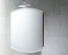 Specchio Contenitore 51x65 Anta Reversibile Acciaio Inox/Vetro GEDY escl.lampada