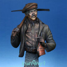 1/9 Unpainted Coal Miner Bust Irish Immigrant Figure Statue Resin GK Unassembled