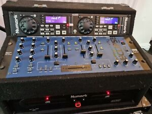 NUMARK CDMIX TWIN DUAL CD PLAYER & WITH BUILT IN MIXER -DECKS CD MIX CD CDJ DJ