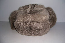 Vintage Orient Cross Fur Hat Trapper Hat With Ear Flaps & Box Size Medium