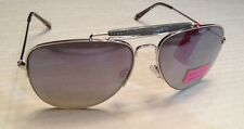 Betsey Johnson Silver Mirror Avaitor Sunglasses NWT Authentic MSRP $50