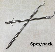 6pcs/pack Bow Fishing Arrowhead Catapult Dart Hunting Set Broadheads Tips Points