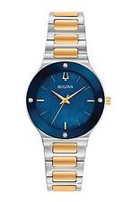 Bulova 98R273 Women's Millenia Blue Dial Two Tone Watch Box & Papers