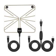 Amplified HDTV TV Antenna 50 Miles Range Digital Indoor Signal Amplifier Booster