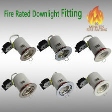 Fire Rated IP20/IP65 Recessed GU10 Ceiling Downlight Spotlights Fitting
