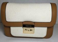 Michael Kors Sloan Editor Ladies LG Brown Leather Canvas Shoulder Bag