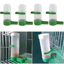 4PCS Plastic Bird Drinker Tube Feeder Portable Waterer For Budgie Cockatiel ghd