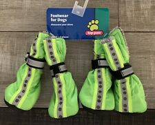 Top Paw Footwear Booties for Dogs Reflective Green Lined Dog Bootie Socks Small